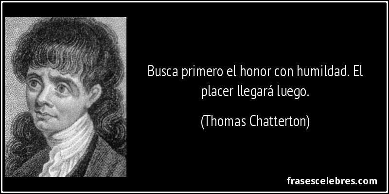 Thomas Chatterton frases
